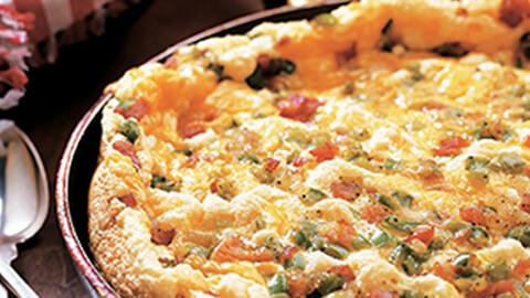 Ham and Green Pepper Fritata - A Rich Source of Vitamin D
