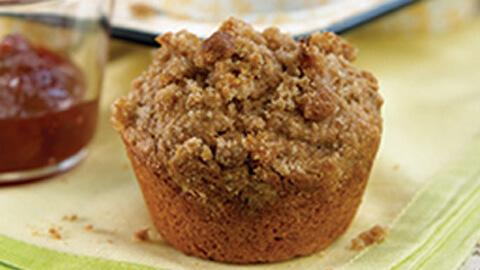 Peanut Butter and Banana Streusel Muffins - A Rich Source of Calcium