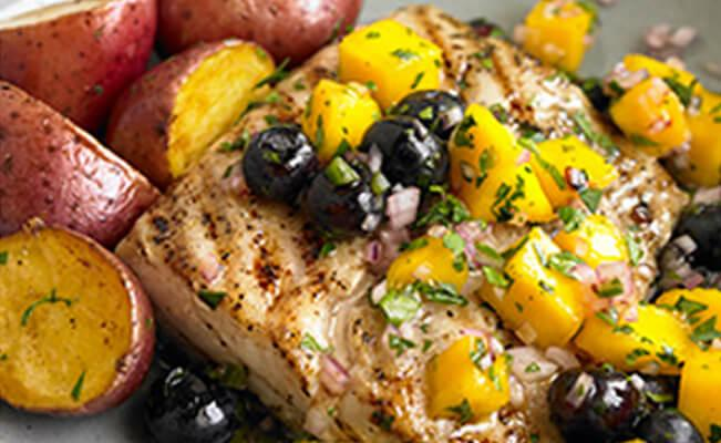 Blueberry-Mango Fish Fillet - A Rich Source of DHA