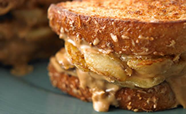 Grilled Banana Sandwich - A Rich Source of Fiber